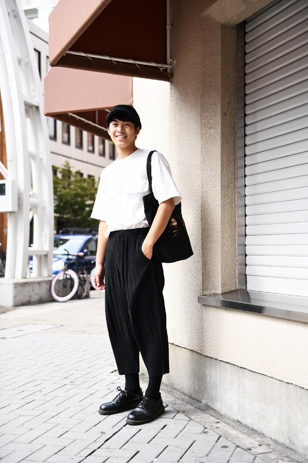 栄で撮影した菅野瑠人さん