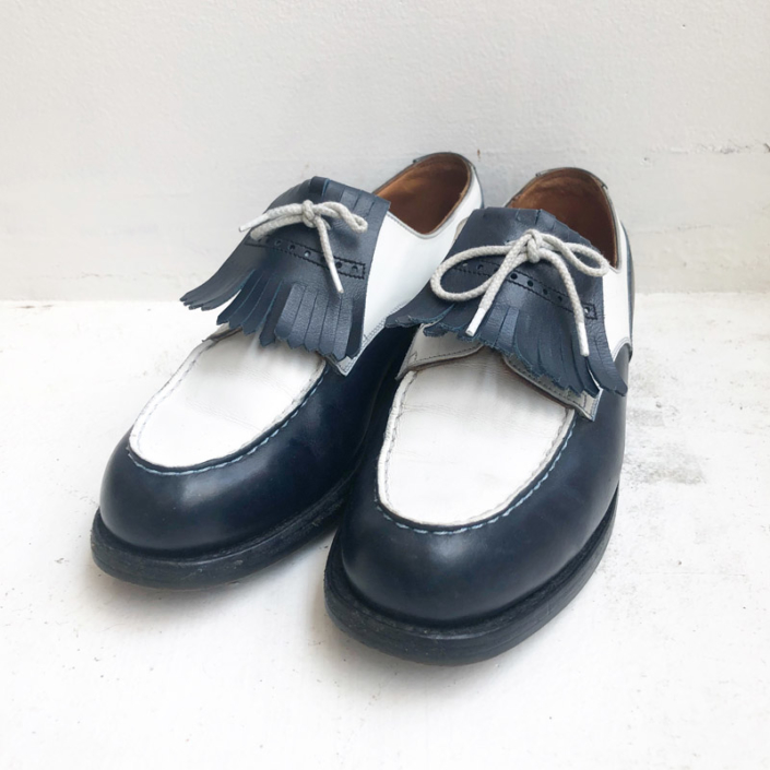 """Old J.M.Weston """"GOLF"""" two tone leather shoes(J.M.Weston(used))"""