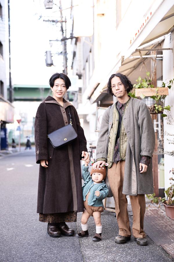 大須で撮影した(左)サエコさん (中)コハルちゃん (右)ケンタさん