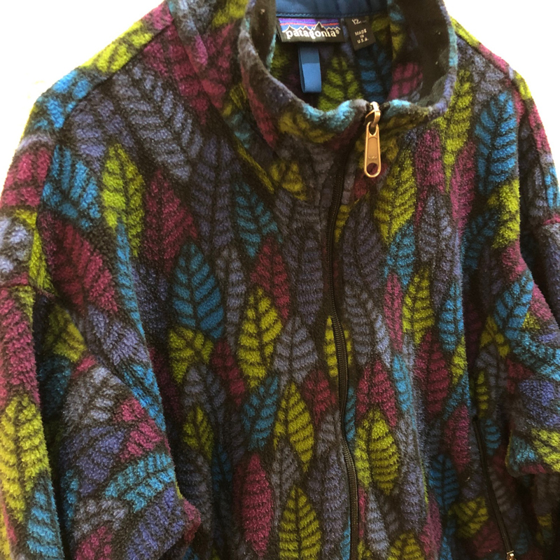1991s leaf 総柄 fleece jacket(USED)