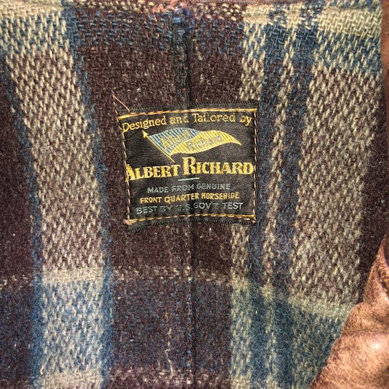1930's Horsehide Sports coat/Car coat about 34(NEON)