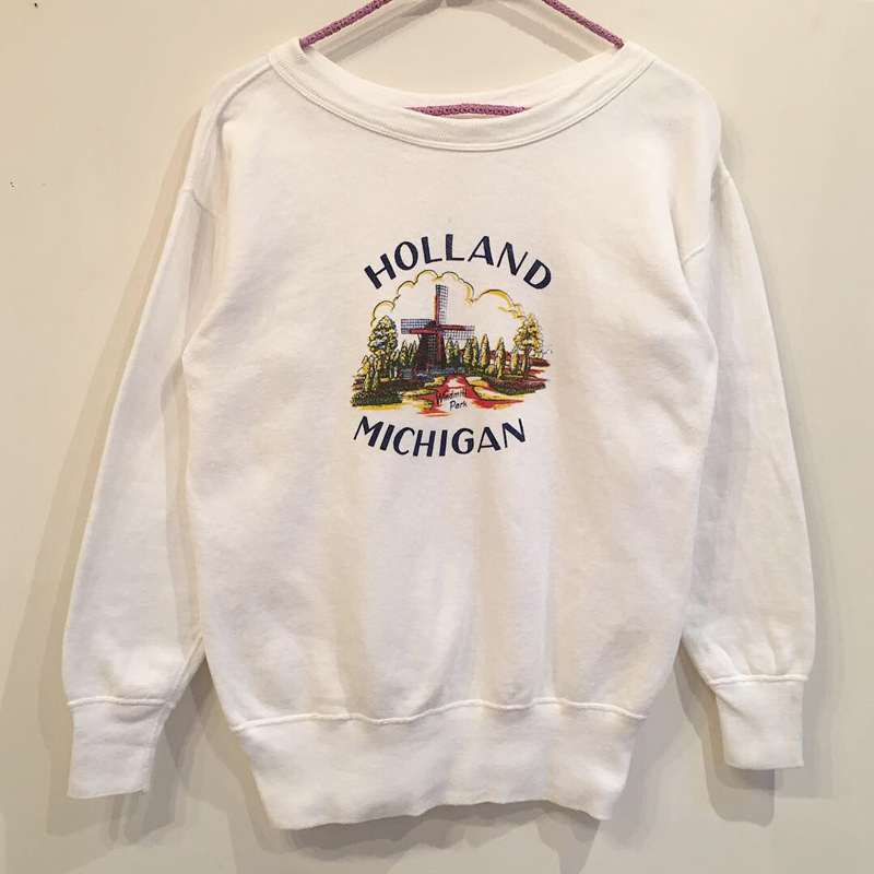 1960's~ windmill print sweat(USED)