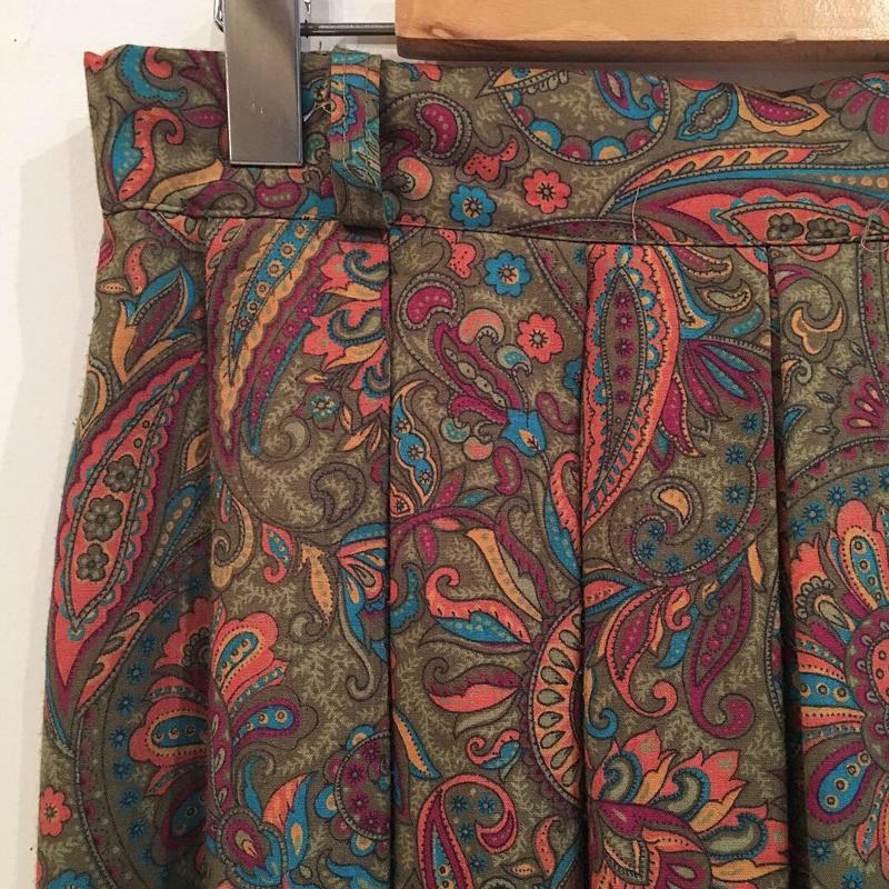1980's paisley print skirt(USED)