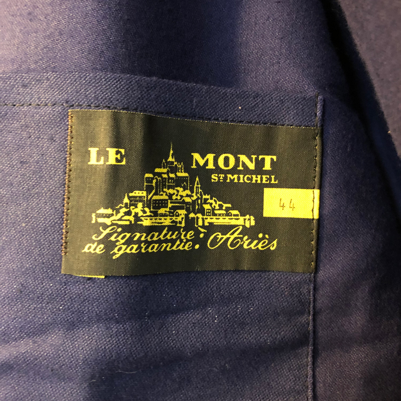 1950s French blue moleskin work jacket(Le Mont St Michel (used))