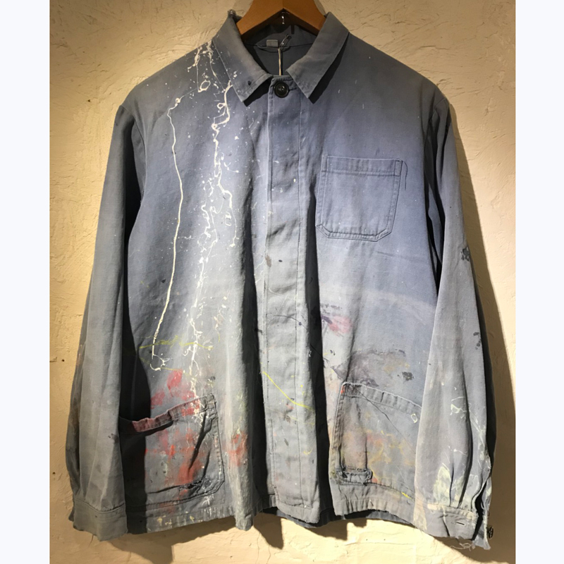1970's FRENCH Painted Work Jacket(USED)