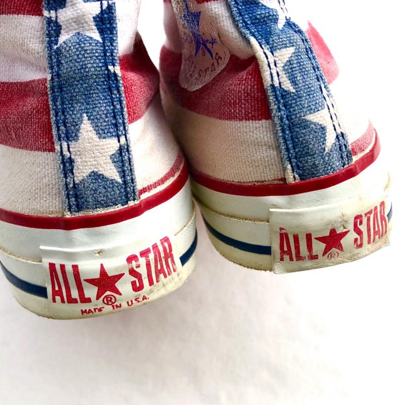 "90's~ CONVERSE ALLSTAR HI ""STARS AND STRIPES"" ""MADE IN USA""(CONVERSE)"
