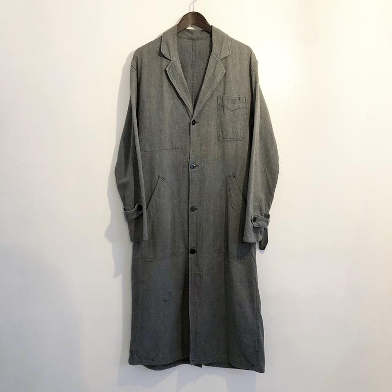 1950s French vintage black chambray coat(LE VETEMENT ATLANTIQUE)