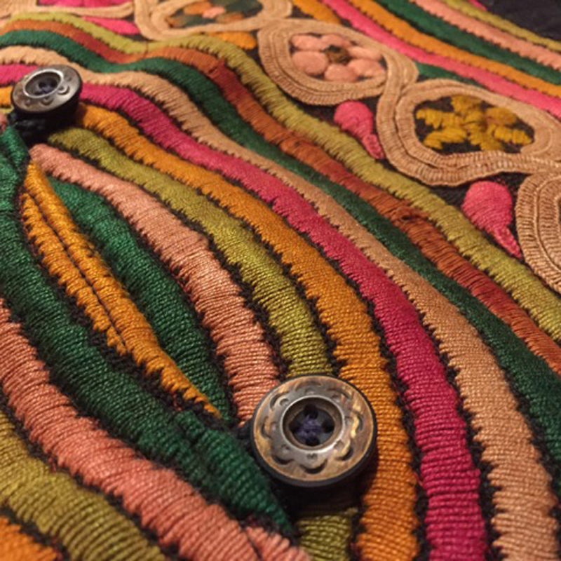 Old Guatemala Embroidery Cotton Jacket(USED)