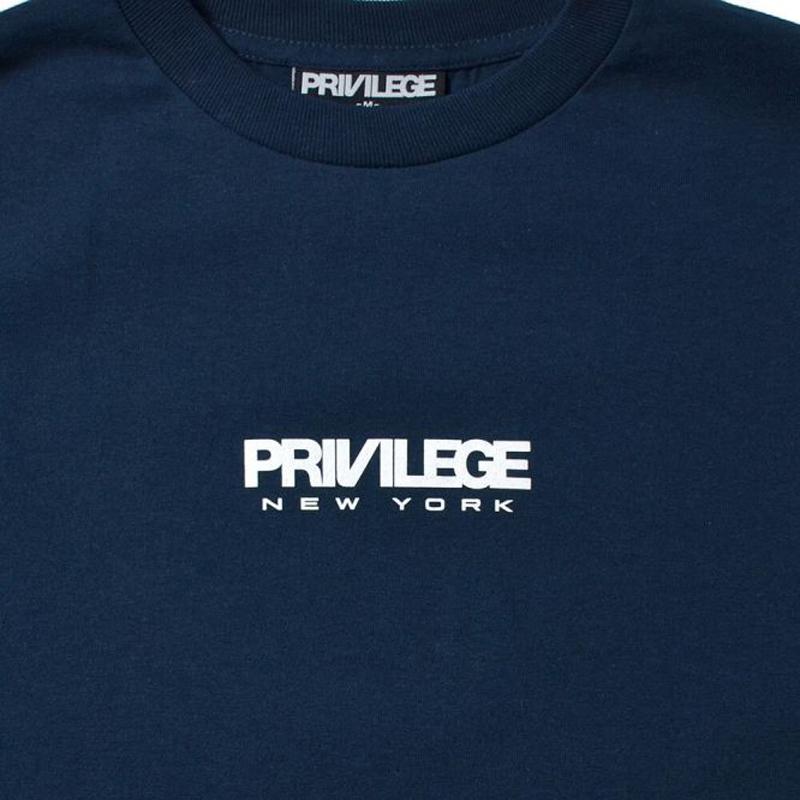 PRIVILEGE SMALL NEWYORK CORE LOGO L/S TEE(PRIVILEGE)