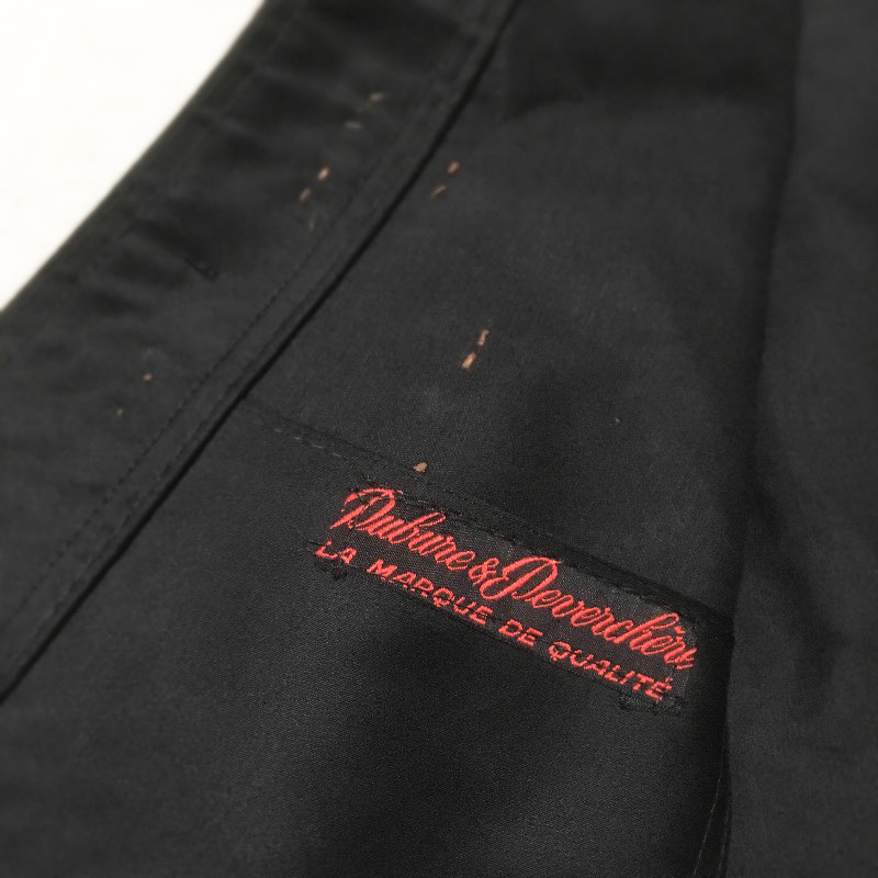 1950's Dubure&Deverchere Moleskin Black Jacket Deadstock(USED)