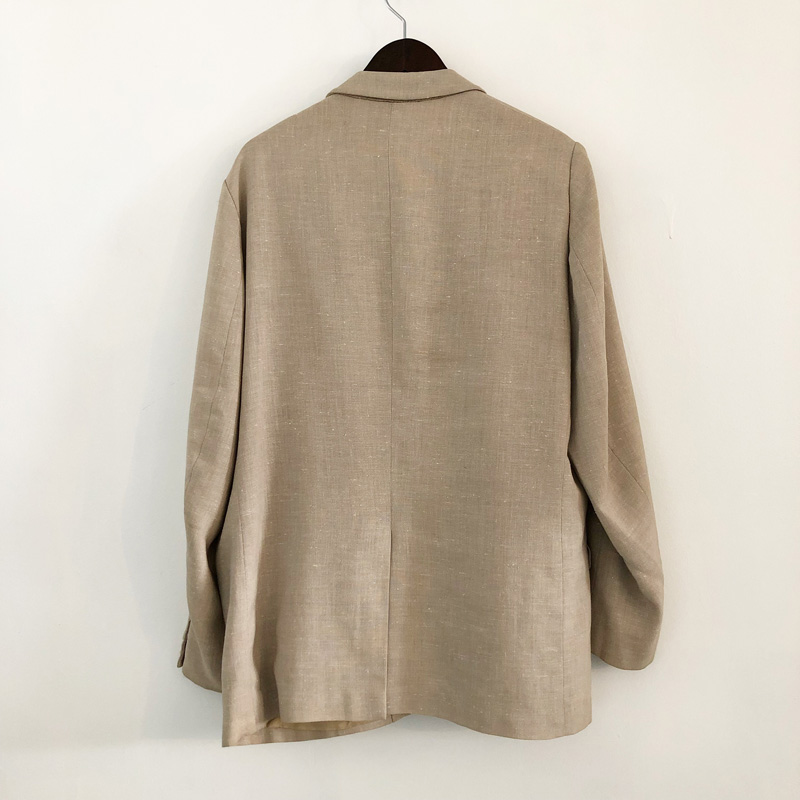 British linen×polyester tailored jacket(used)