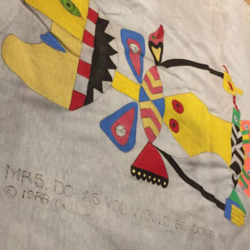 1980's Hand-painted T-shirt(USED)