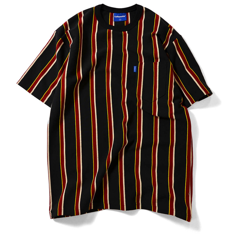 MULTI COLOR STRIPED S/S POCKET CUT SEWN (LAFAYETTE)