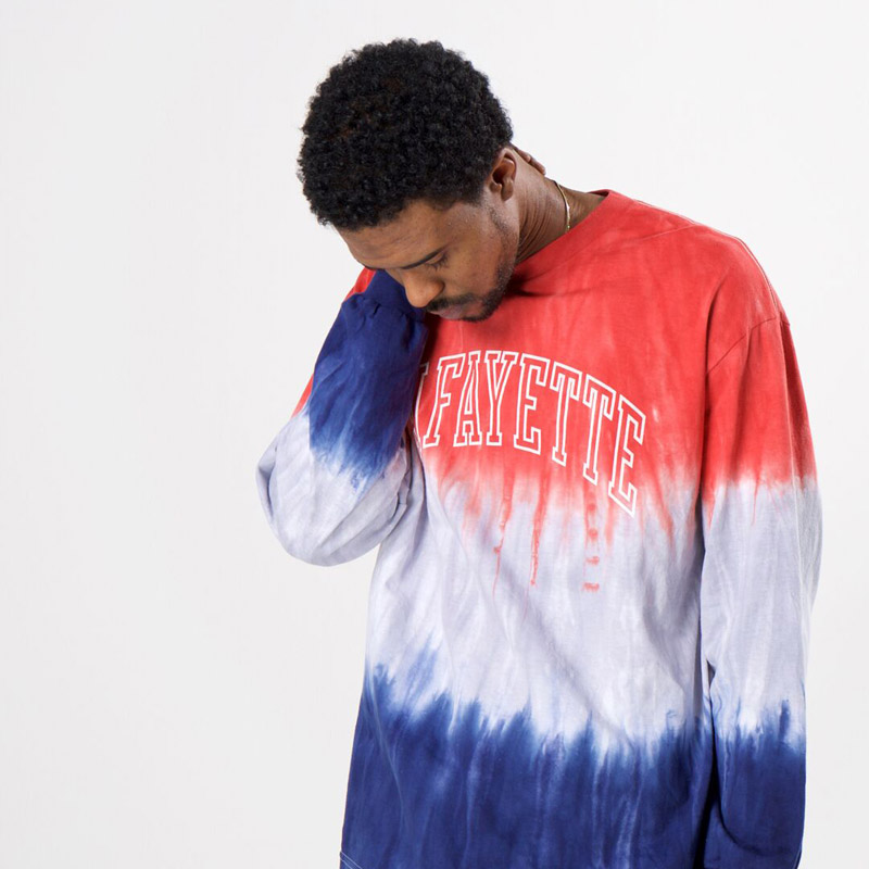ARCH LOGO TIE DYED L/S TEE(LAFAYETTE)
