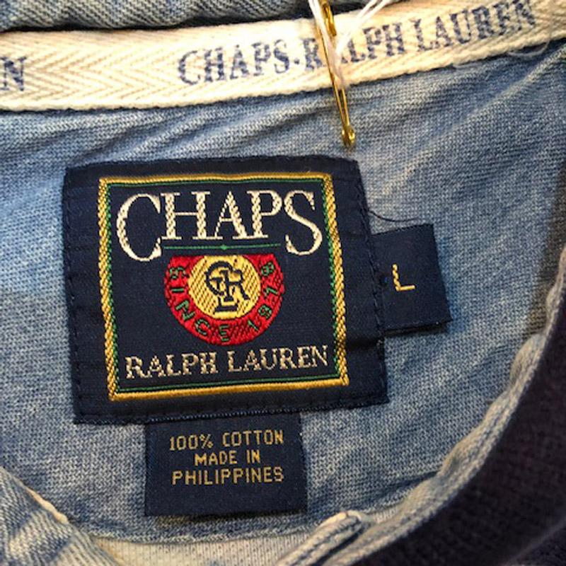 90s CHAPS by ralph lauren all over print polo shirts(Ralph Lauren)