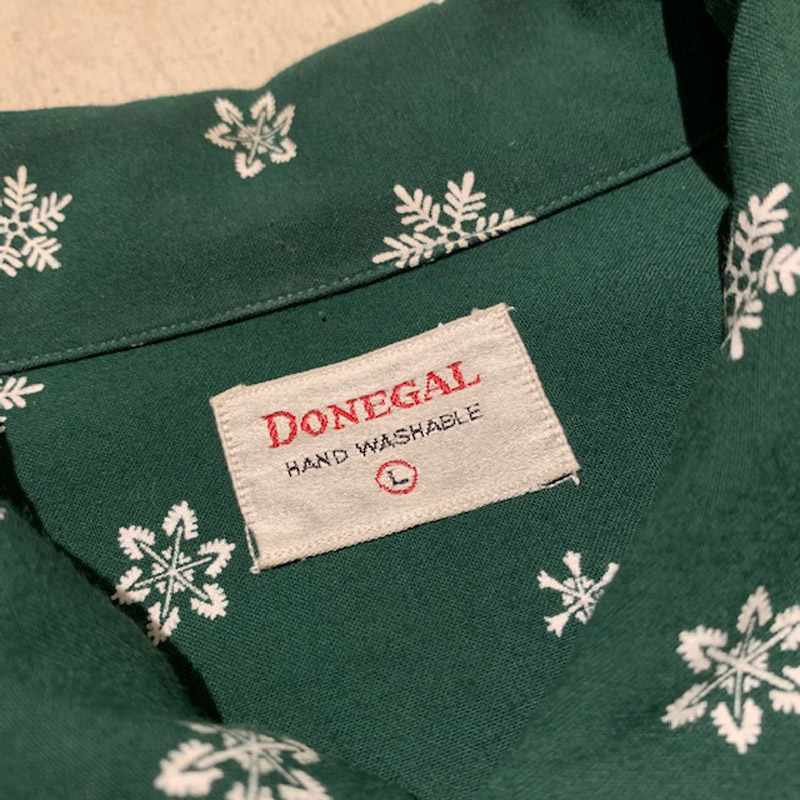 1950's DONEGAL Rayon L/S Shirt(USED)