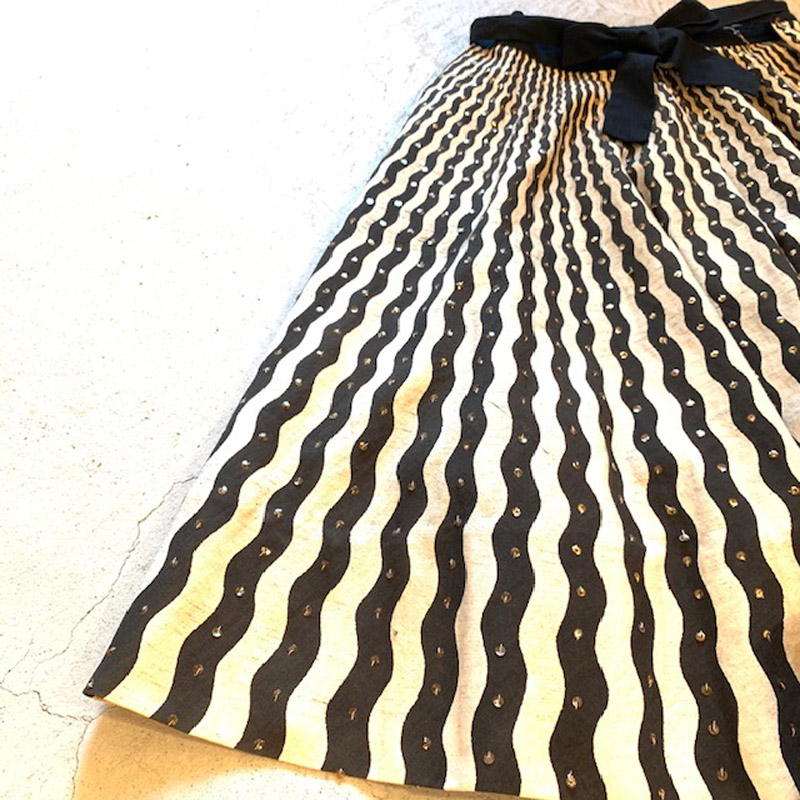 1950's VINTAGE Mexican Hand Print Skirt(VINTAGE)