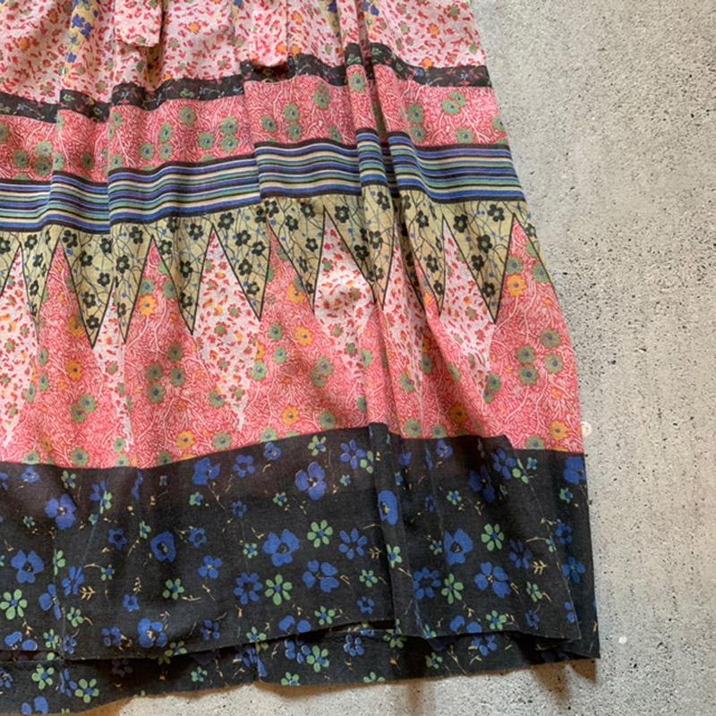 1970's vintage BOHO dress(VINTAGE)