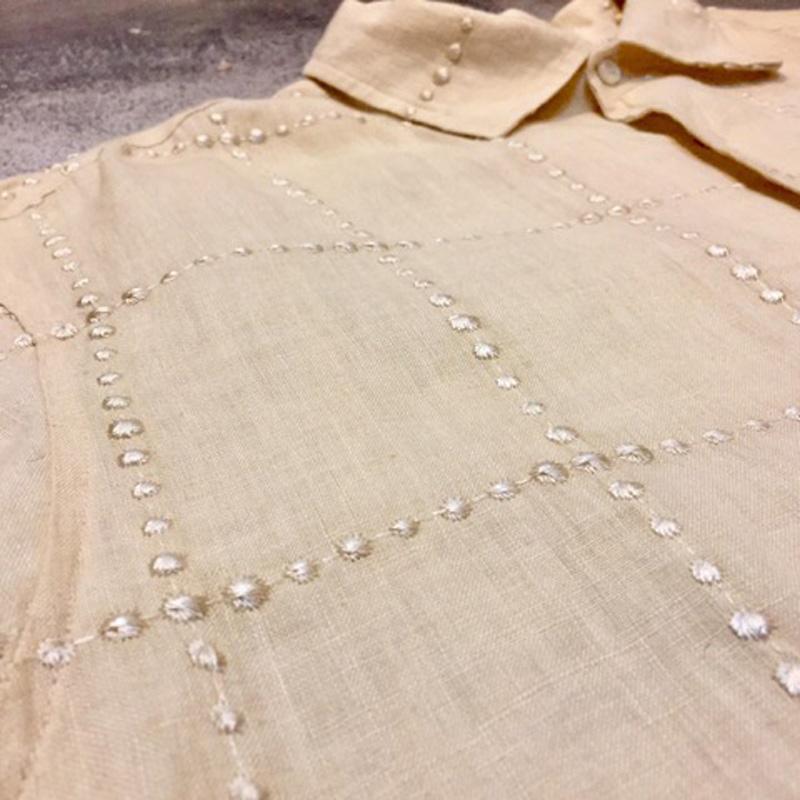 Old Italian Linen Shirt(USED)