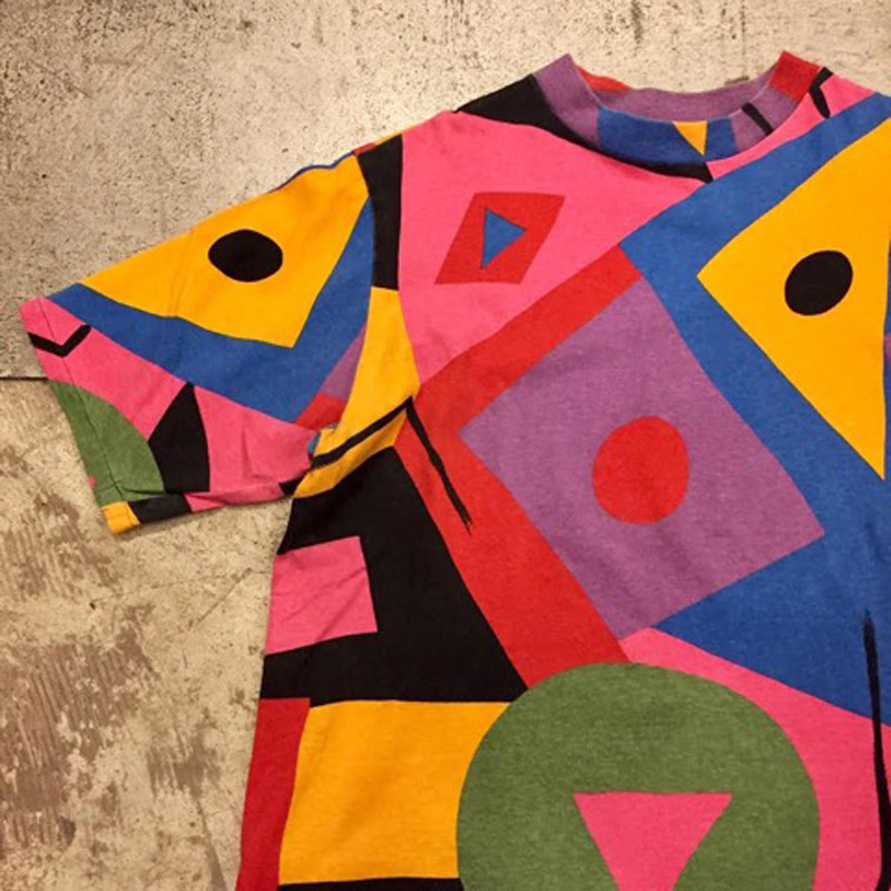 〜1990's Patterned T-shirt(USED)