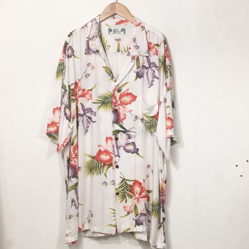 1990s Rayon Hawaiian Shirt Made in Hawaii(Two Palms)