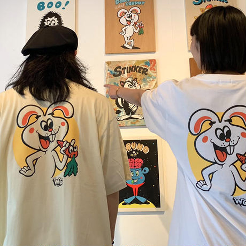 """W.C Johnny 001:""""W.C Bunny"""" S/S T-SHIRT(Oh!theGuilt)"""