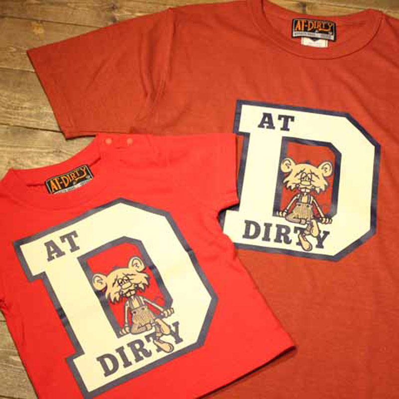 COLLEGE D S/S T-SHIRT(AT-DIRTY)