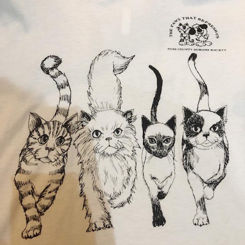 CAT tee(80's USED)