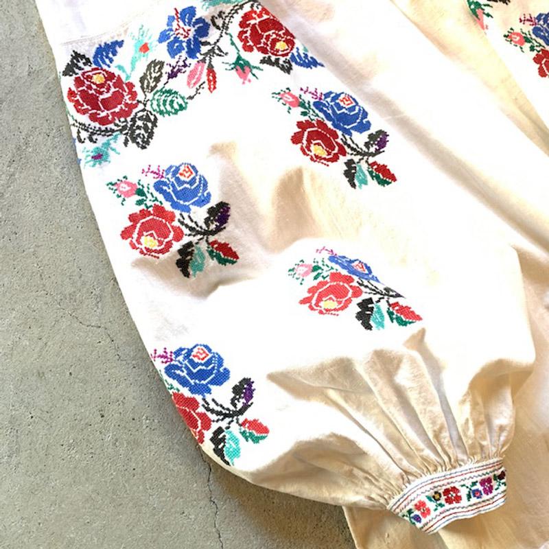 20~50'S Antique Ukraine embroidery dress(USED)