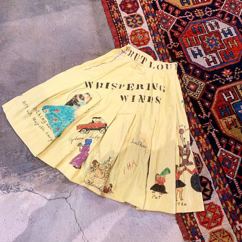 1961's vintage memorial skirt(VINTAGE)