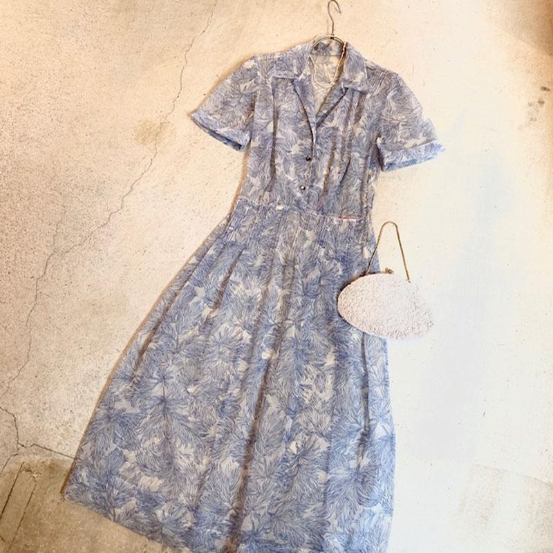 1950's vintage see-through dress(VINTAGE)