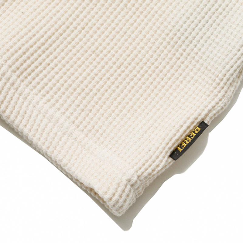 WAFFLE CREW NECK CUT&SEWN(RUDE GALLERY BLACK REBEL)