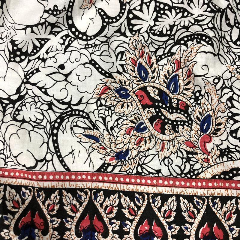 パキスタンコットン花柄キャミワンピース(WHITE)(USED)
