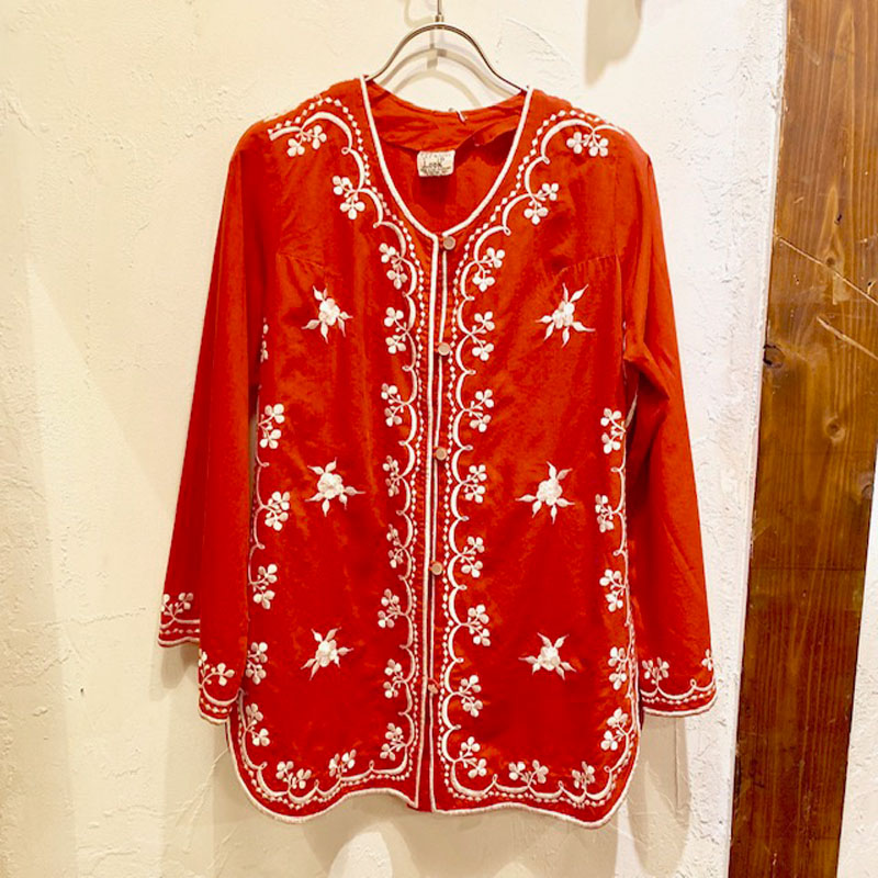 1970'S VINTAGE Philippines embroidery jacket(USED)