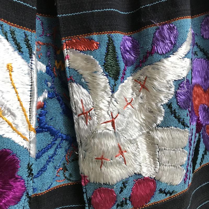 メキシコ刺繍マキシ丈スカート(VINTAGE)